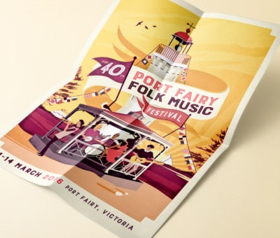 Port Fairy Folk Music Festival Poster