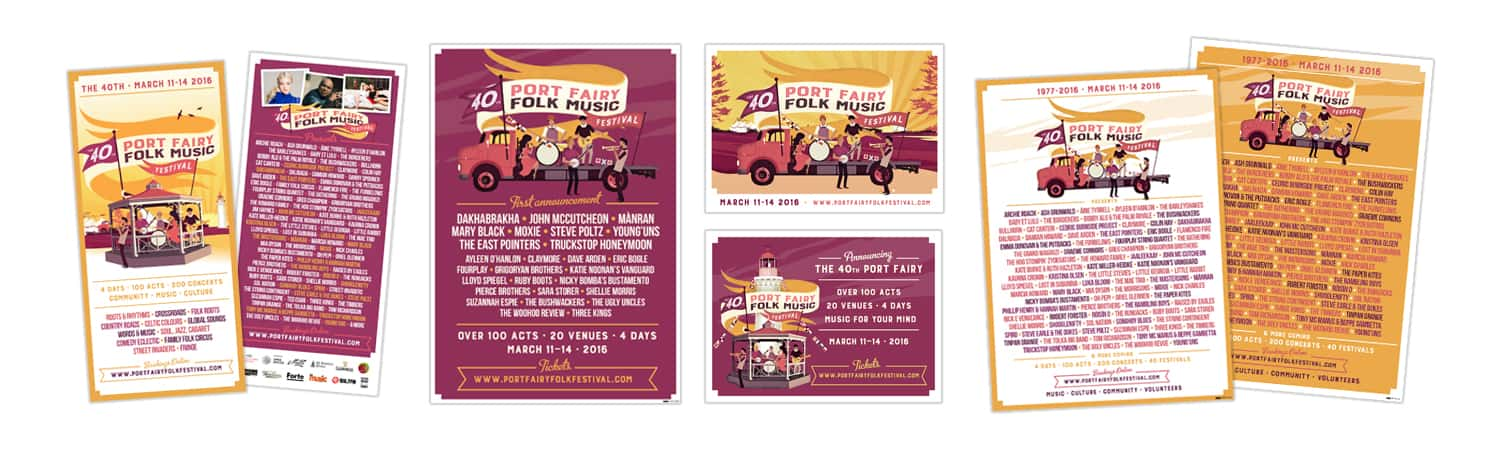 Port Fairy Folk Music Festival Advertising