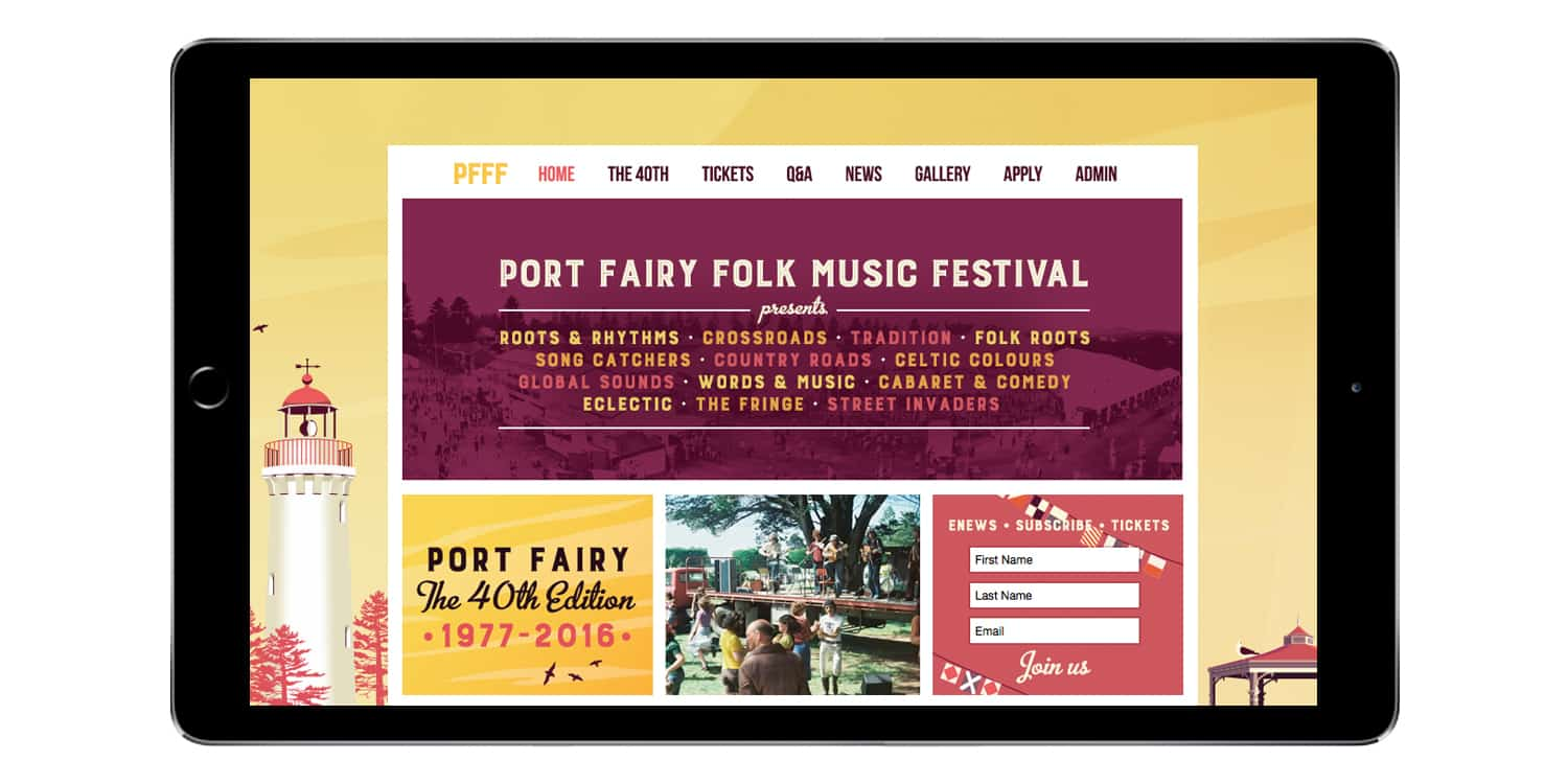 Port Fairy Folk Music Festival Website