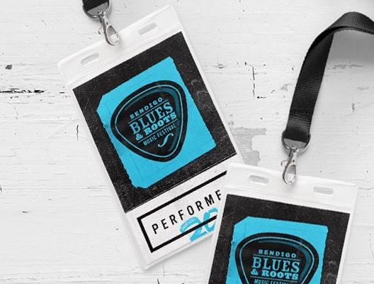 Bendigo Blues & Roots Music Festival Lanyards
