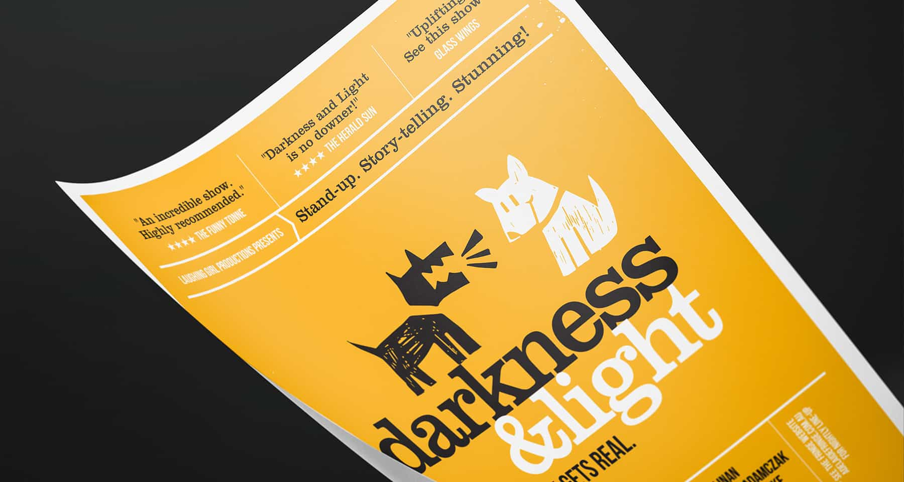 Darkness & Light Event Branding