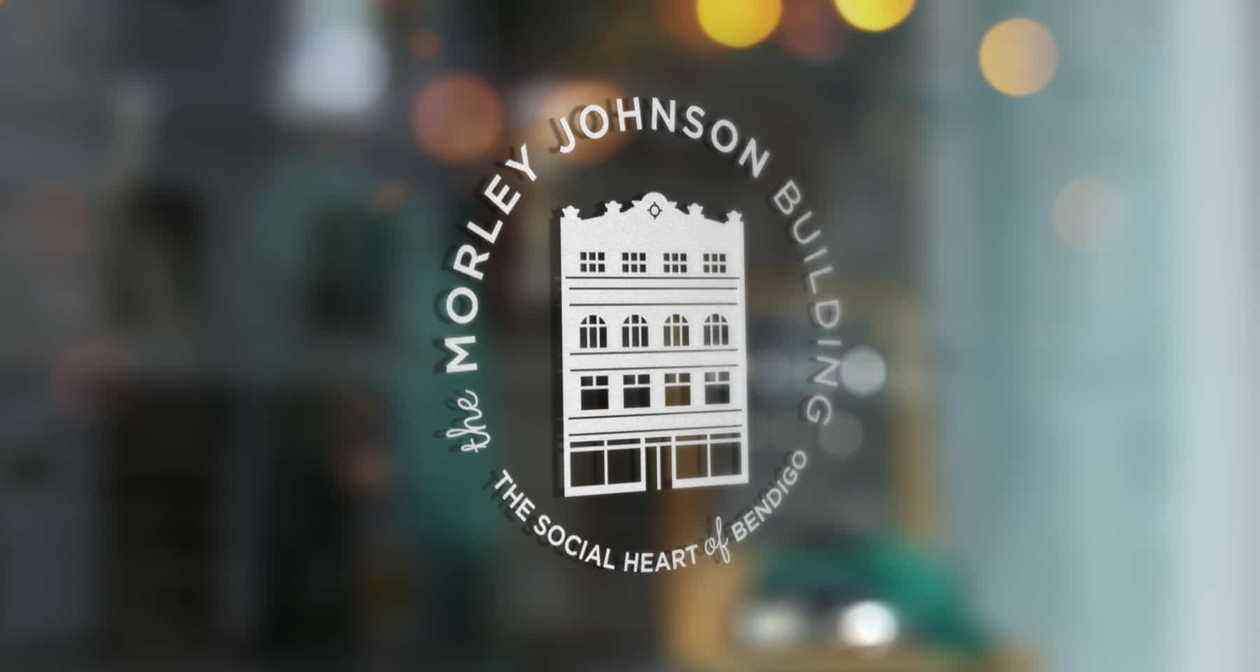 Morley Johnson Building Logo on Window