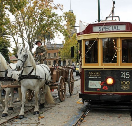 The Anzac Centenary Tram