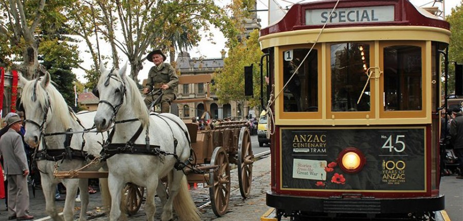 The Anzac Centenary Tram